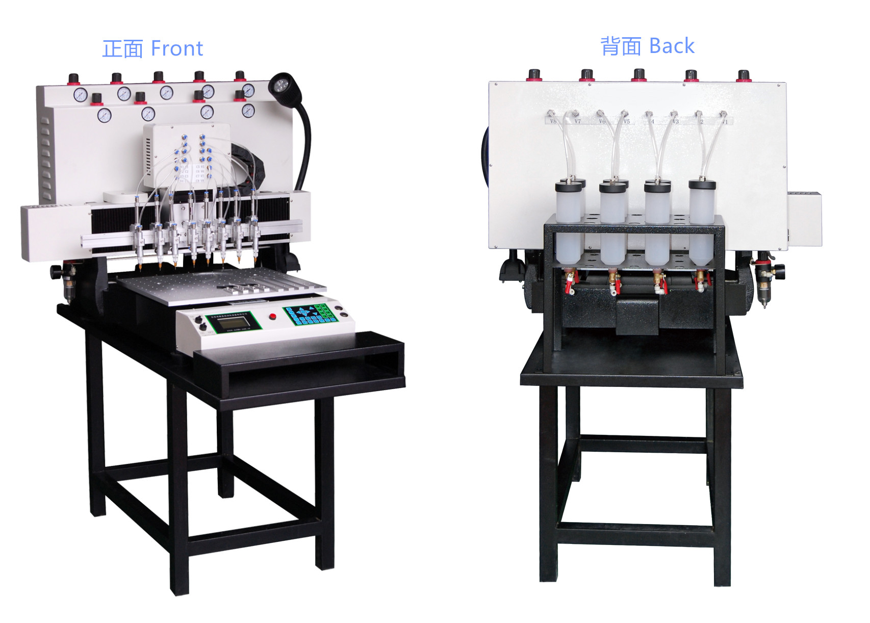 8 color PVC machine front and back
