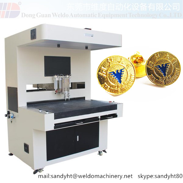 Automatic Souvenir Enamel Lapel Pin Coloring Machine