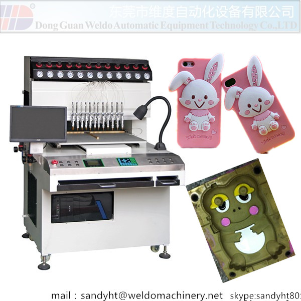 12 Colors Silicon Mobile Case Making Machine