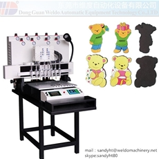 PVC Rubber Souvenir Dropping Machine