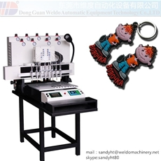 PVC keychain automated injection Machine